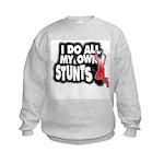 My Own Stunts Kids Sweatshirt