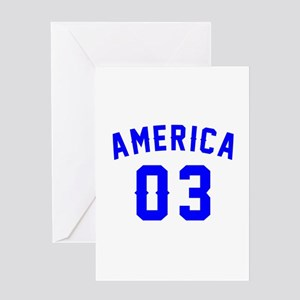 America 03 Birthday Greeting Card