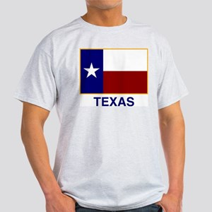 TEXAS FLAG Ash Grey T-Shirt