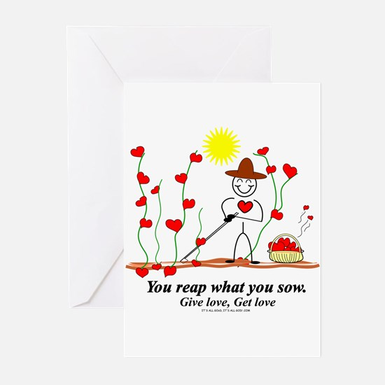 Sow Love Reap Love Greeting Cards (Pk of 10)