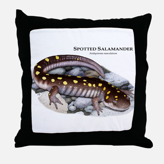 Spotted Salamander Throw Pillow