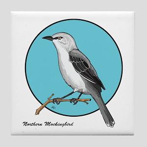 NORTHERN MOCKINGBIRD 1b Tile Coaster