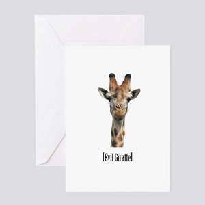 Evil Giraffe Greeting Card