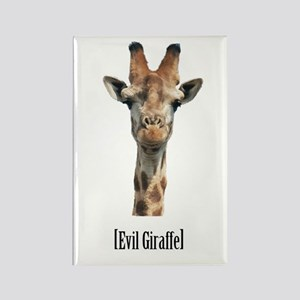 Evil Giraffe Rectangle Magnet
