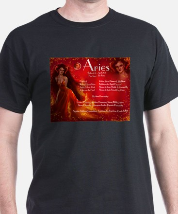 Goddess Aries Black T-Shirt