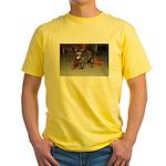 Tortoishell Cat 2 Yellow T-Shirt