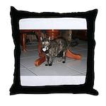 Tortoishell Cat 2 Throw Pillow