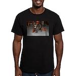 Tortoishell Cat 2 Men's Fitted T-Shirt (dark)