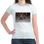 Tortoishell Cat 2 Jr. Ringer T-Shirt