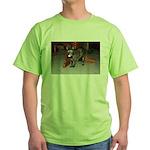 Tortoishell Cat 2 Green T-Shirt