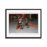 Tortoishell Cat 2 Framed Panel Print