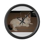 Sleeping Cat Large Wall Clock