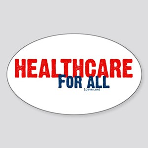 Healthcare for All Oval Sticker
