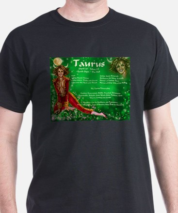 Goddess Taurus Black T-Shirt