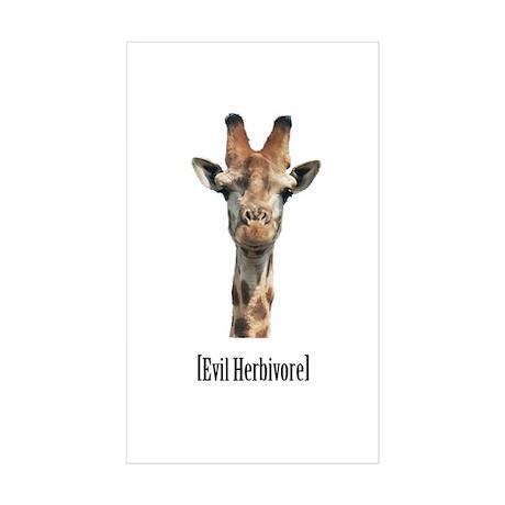 Evil Herbivore Rectangle Sticker 10 pk)