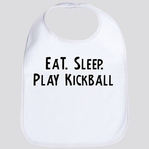 Eat, Sleep, Play Kickball Bib