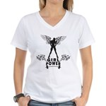 Girl Power Women's V-Neck T-Shirt