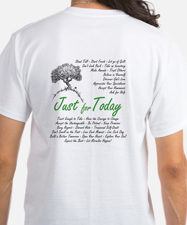 JUST 4 TODAY 12 Step Recovery White T-Shirt