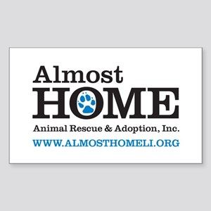 Almost Home Rectangle Sticker