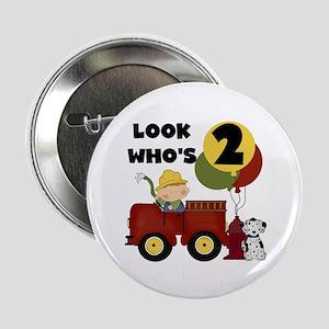 "Fireman 2nd Birthday 2.25"" Button"