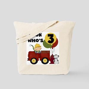 Fireman 3rd Birthday Tote Bag