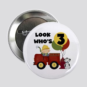 "Fireman 3rd Birthday 2.25"" Button"