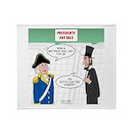 Presidents' Day Mattress Sale Throw Blanket