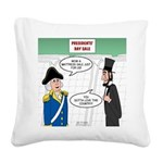 Presidents' Day Mattress Sale Square Canvas Pillow