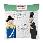 Presidents' Day Mattress Sale Woven Throw Pillow