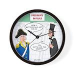 Presidents' Day Mattress Sale Wall Clock