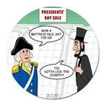Presidents' Day Mattress Sale Round Car Magnet