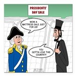 Presidents' Day Mattress Square Car Magnet 3