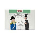 Presidents' Day Mattre Rectangle Magnet (100 pack)