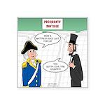 Presidents' Day Mattress Sa Square Sticker 3