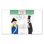 Presidents' Day Mattress Sale Sticker (Rectangle)