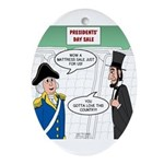 Presidents' Day Mattress Sale Oval Ornament