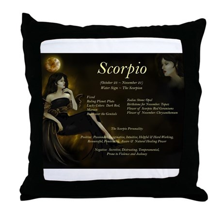 Goddess Scorpio Throw Pillow