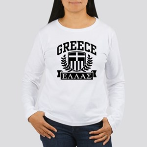 Greece Women's Long Sleeve T-Shirt