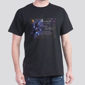 Goddess Sagittarius Black T-Shirt
