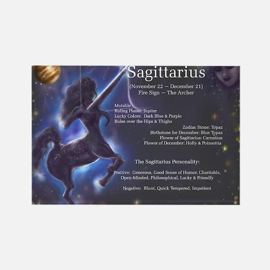 Goddess Sagittarius Rectangle Magnet