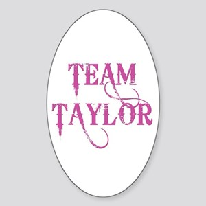 TEAM TAYLOR Oval Sticker