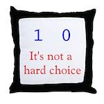 Binary Choice Throw Pillow