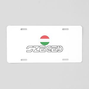 Szeged Aluminum License Plate