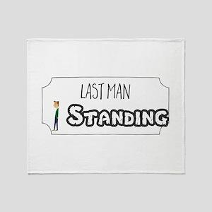 Last Man Standing Throw Blanket