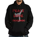 Peace Love Taekwondo Hoodie (dark)