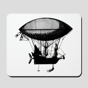 Steampunk pirate airship Mousepad