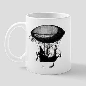 Steampunk pirate airship Mug