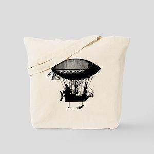 Steampunk pirate airship Tote Bag