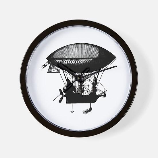 Steampunk pirate airship Wall Clock