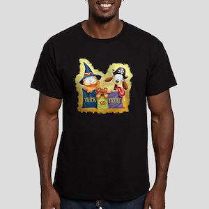 Garfield Trick or Treat Men's Fitted T-Shirt (dark